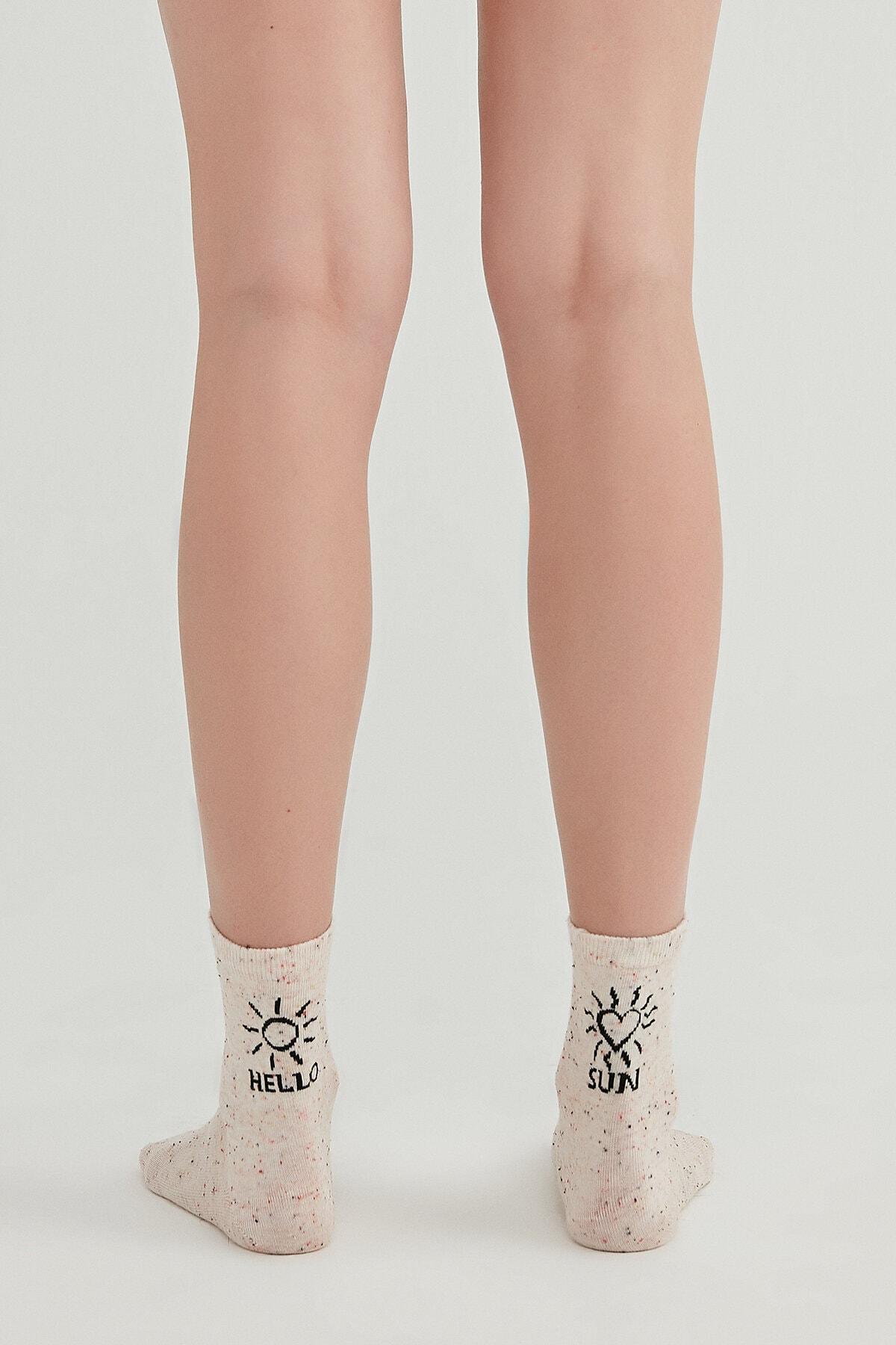 Penti Kadın Gri Hello Sun Soket Çorap 2