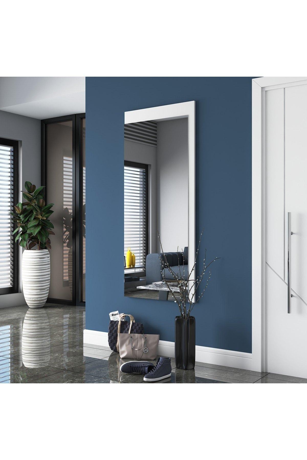 Rani P11 Dekoratif Ayna Duvar Aynası Beyaz