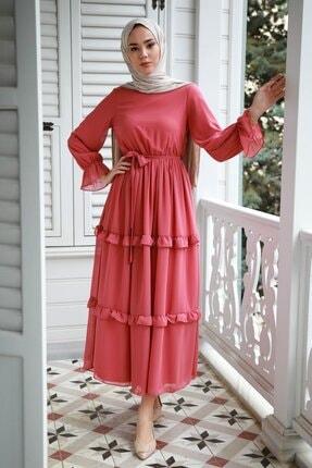 Monica Pembe Şifon Elbise GZC1MONCA60
