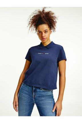 Tommy Hilfiger Kadın Mavi Baskılı  T-shirt 0