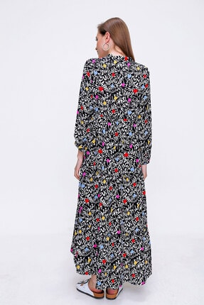 Bigdart Volanlı Tesettür Elbise 3