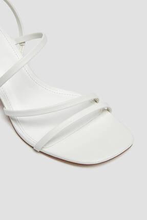 Pull & Bear Kadın Ekru İnce Bantlı Topuklu Sandalet 2