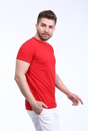 İng drop Erkek Çok Renkli 3'lü Paket Basic Slim Fit T-shirt 3