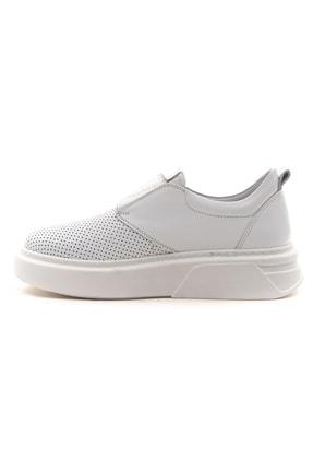 GRADA Beyaz Önden Lastikli  Hakiki Deri Sneaker Ayakkabı 3