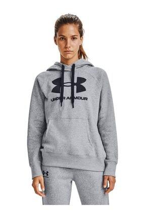 Under Armour Kadın Spor Sweatshirt - Rival Fleece Logo Hoodie - 1356318-035 0