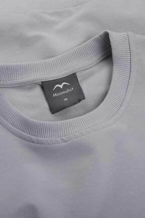 Minimalist Kadın Gri Basic Sweatshirt 2
