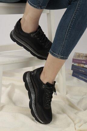 Ayakkabım Elimde Belda Siyah Yüksek Taban Spor Ayakkabı 2
