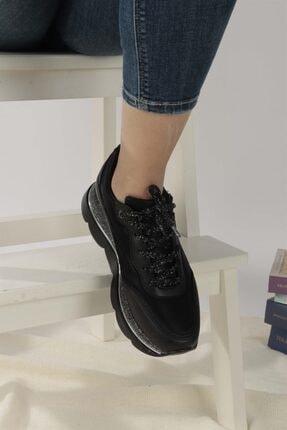 Ayakkabım Elimde Belda Siyah Yüksek Taban Spor Ayakkabı 4