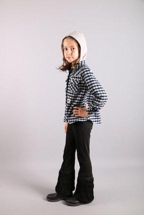 Timo Kız Çocuk Siyah Piti Kareli Kapüşonlu Gömlek 150297620 1