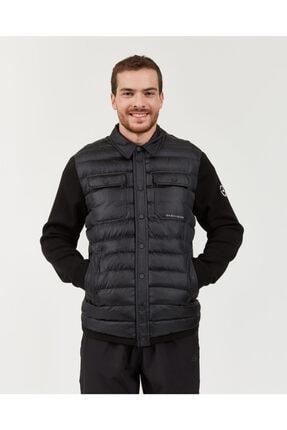 Skechers Outerwear M Rib Shirt Collar LW Jacket Erkek Siyah mont 0