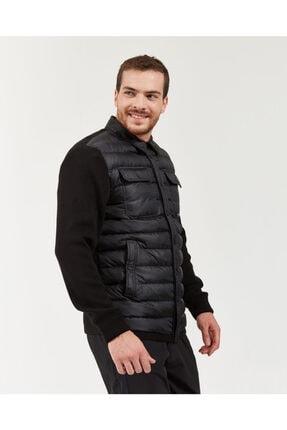 Skechers Outerwear M Rib Shirt Collar LW Jacket Erkek Siyah mont 2