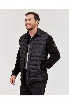 Skechers Outerwear M Rib Shirt Collar LW Jacket Erkek Siyah mont 3