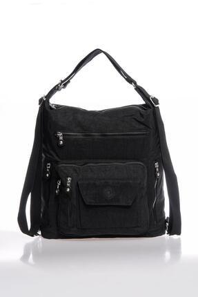 Smart Bags Smbky1205-0001 Siyah Kadın Omuz Ve Sırt Çantası 1