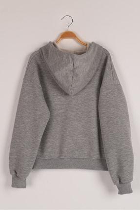 Lavien Kız Çocuk Transfer Baskılı Şardonlu Sweatshirt 2