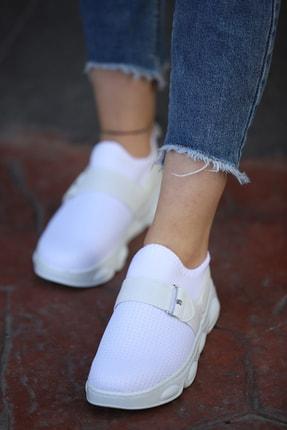 Bez Spor Ayakkabı - Beyaz 9006