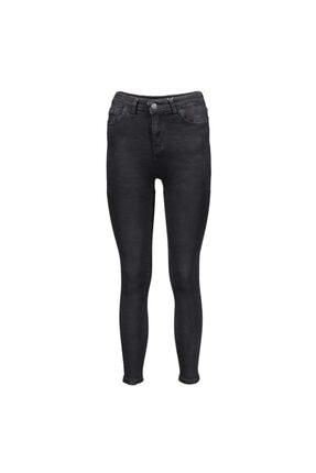 Collezione Siyah Kadın Denim Pantolon 0