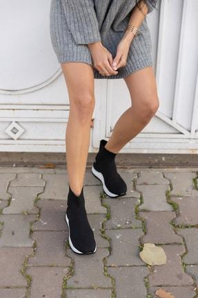 ANGELİNA JONES Damlalla Siyah Trıko Sneakers Bot 1