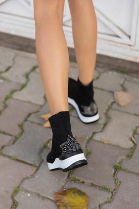 ANGELİNA JONES Damlalla Siyah Trıko Sneakers Bot 2