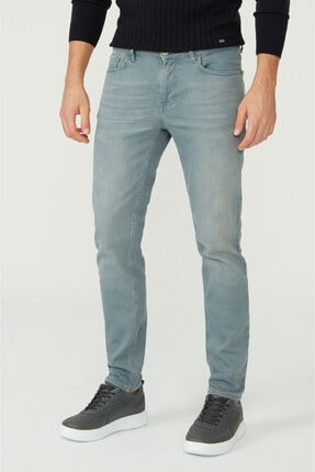 Avva Erkek Gri Skinny Fit Jean Pantolon A02y3501 1