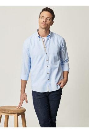 Altınyıldız Classics Tailored Slim Fit Dar Kesim Düğmeli Yaka Oxford Gömlek 3