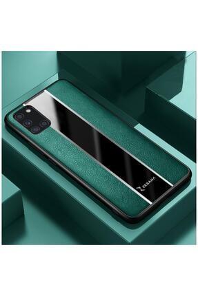 Dara Aksesuar Samsung Galaxy A31 Kılıf Zebana Premium Deri Kılıf Yeşil 0