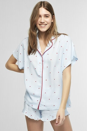 Penti Mavi Love Stripe Pijama Takımı 2
