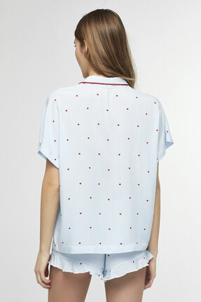 Penti Mavi Love Stripe Pijama Takımı 3