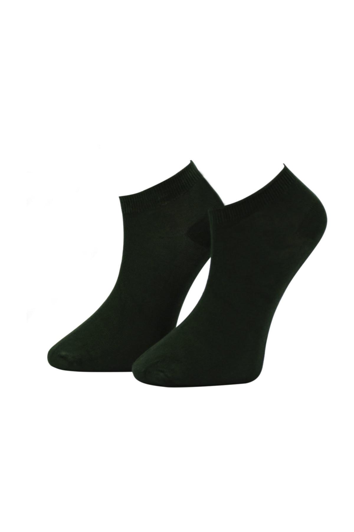 Kadın Siyah Bambu Dikişsiz Soket Kısa Çorap 12 Çift