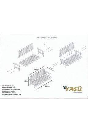 YASÜ Teras Koltuğu - Bahçe Koltuğu - Balkon Koltuğu - Üçlü Berjer Koltuk - Oturma Uzanma Koltuğu 1
