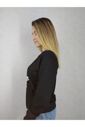 Modern Giyin Yıldız Baskılı Bayan Sweatshirt 1