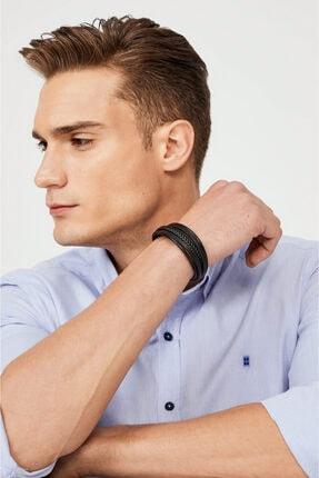 Avva Erkek Mavi Düz Alttan Britli Yaka Slim Fit Gömlek A02y2244 3