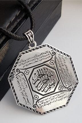 Gümüş Pazarım 4 Kul Duası Gümüş Kolye (Kafirun, Ihlas, Felak Ve Nas) 0
