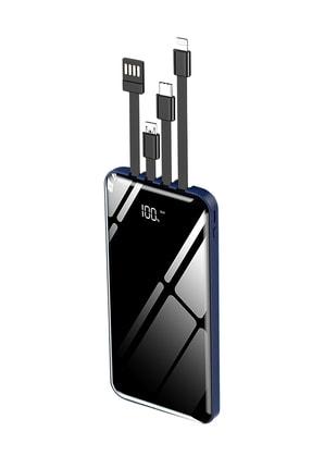 İntouch 10.000 Mah Prime Dijital Göstergeli Dahili Çoklu Kablolu Powerbank,mavi 0