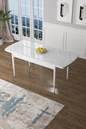 Canisa Concept Zen Serisi Beyaz Mdf Açılabilir Mutfak Masası, Yemek Masası Beyaz 1