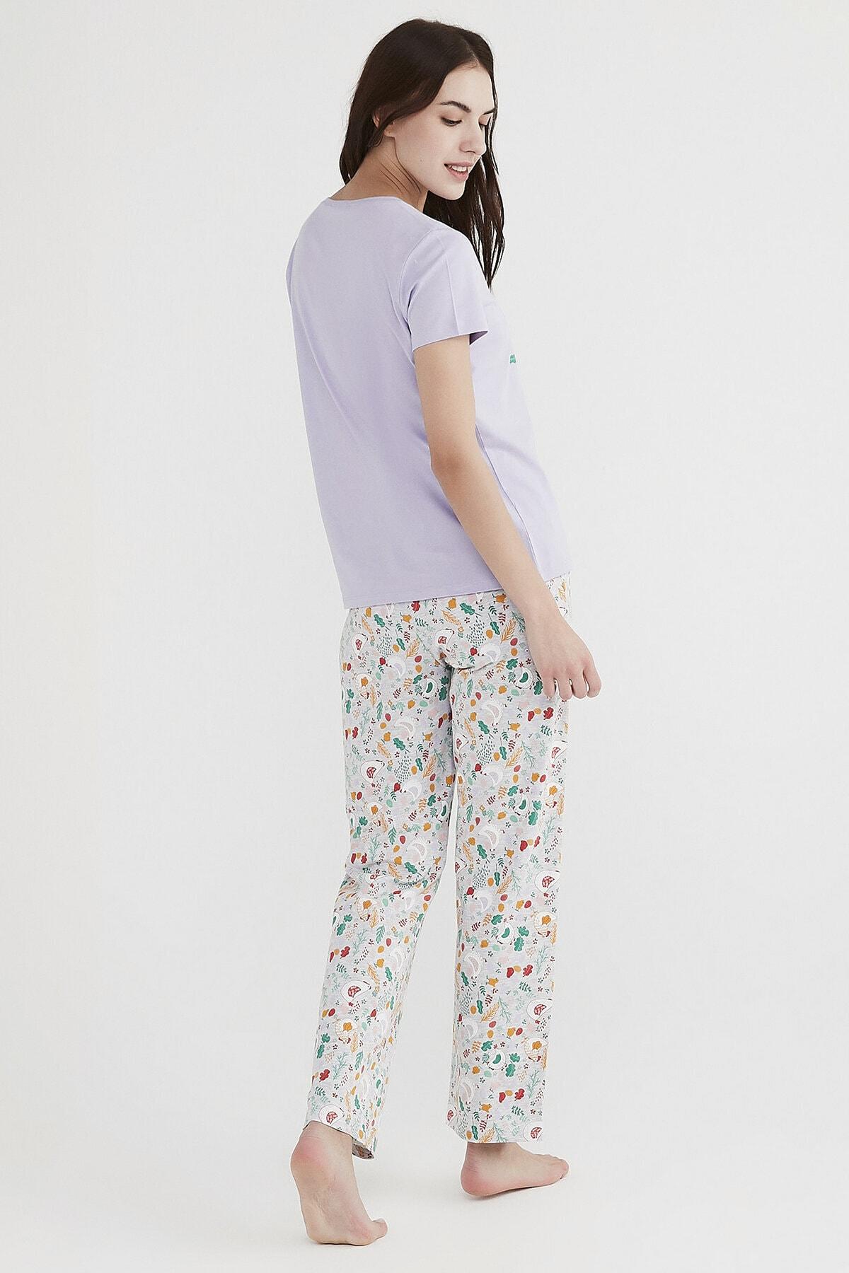 Penti Çok Renkli Don'T Panic Pijama Takımı 3