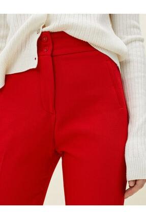 Koton Kadın Kırmızı Cigarette Pantolon 4