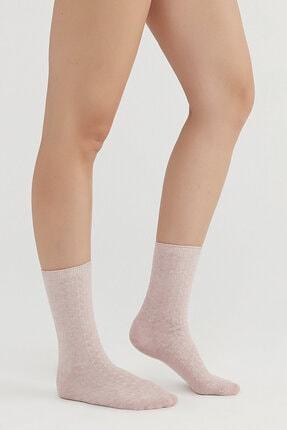 Penti Rose Beige Örgü Soket Çorap 1