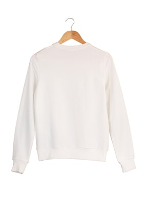 New Balance Kadın Spor Sweatshirt - CREW NECK  - WTC0303-WT 1