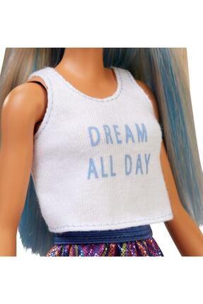 Barbie Fashionistas Bebek ve Aksesuarları Çizgili Renkli Etekli FXL53-FBR37 3