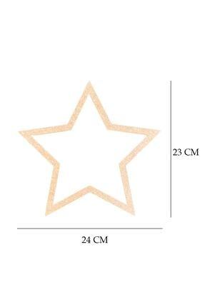 Ege Tasarım Evi Ham Mdf Yıldız Kesim 24cm 1