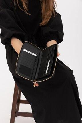 Shule Bags Kadın Cüzdan 1018 Siyah Croc 2