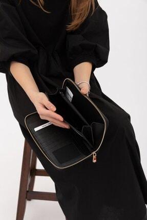 Shule Bags Kadın Cüzdan 1018 Siyah Croc 3
