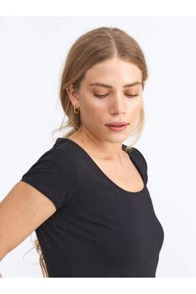 Xint Xınt U Yaka Pamuklu Rahat Kesim Basic Tişört 2