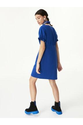 Twist Düğme Kapama Elbise 3