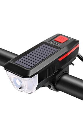valkyrie Solar Bisiklet Feneri Su Geçirmez T6 Led Güneş Enerjili Usb Şarjlı 1