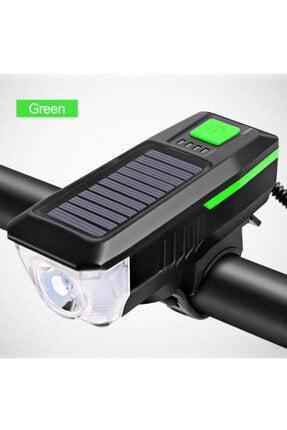 valkyrie Solar Bisiklet Feneri Su Geçirmez T6 Led Güneş Enerjili Usb Şarjlı 3