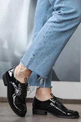 Mio Gusto Berta Siyah Rugan Oxford Ayakkabı 0
