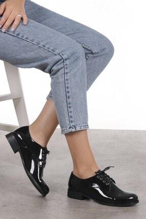 Mio Gusto Berta Siyah Rugan Oxford Ayakkabı 1