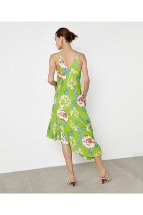 İpekyol Çiçek Desen Askılı Elbise 2