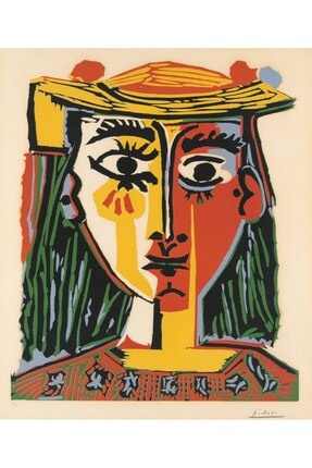 Vona Vintage Pablo Picasso Head Of A Woman In A Hat Art Poster 1